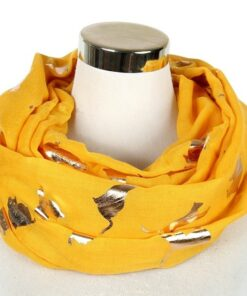 scarf, Shiny Foil Gold Metallic Cat Scarf