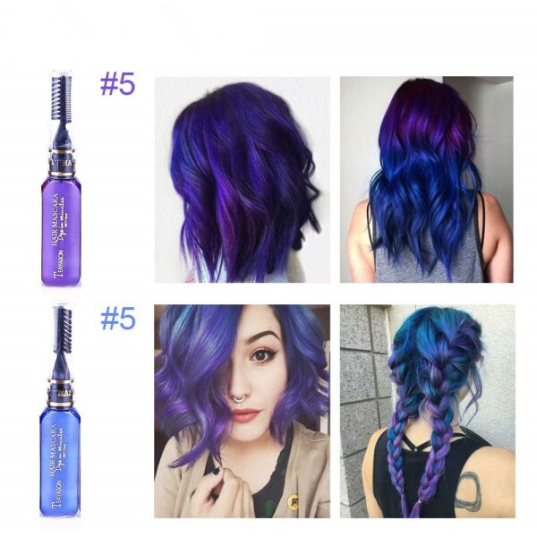 13 Colors One off Hair Color Dye Temporary Non toxic DIY Hair Color Mascara Washable One 3