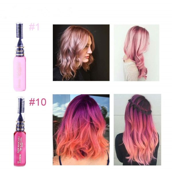13 Colors One off Hair Color Dye Temporary Non toxic DIY Hair Color Mascara Washable One 4