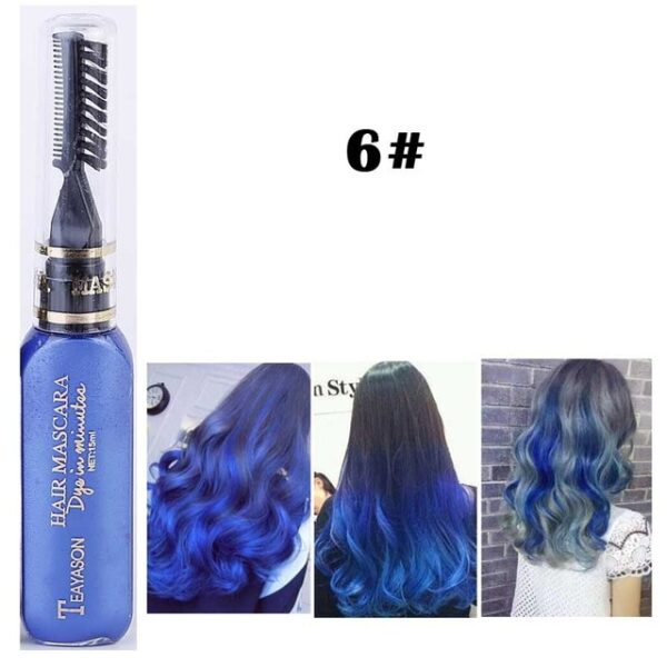 13 Colors One off Hair Color Dye Temporary Non toxic DIY Hair Color Mascara Washable One 5.jpg 640x640 5