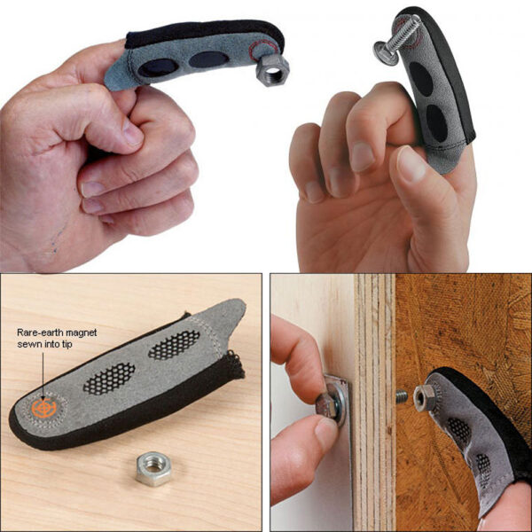 2018 New Magnetic Fingertip Sleeve Assures You ll Never Drop Another Screw On The Floor NE1115