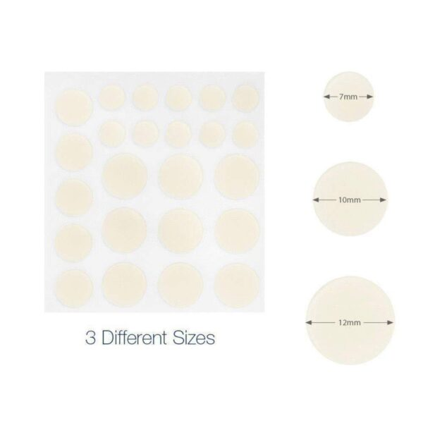 24pcs Hydrocolloid Acne Invisible Pimple Master Patch Skin Tag Removal Patch Pimple Blackhead Blemish Removers Facial 3