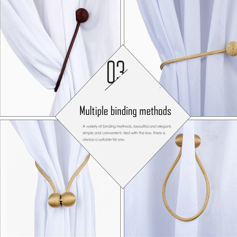Magnetic Curtain Buckle (2 Pcs)   Furniture DIY Europe Curtain Hook Clip