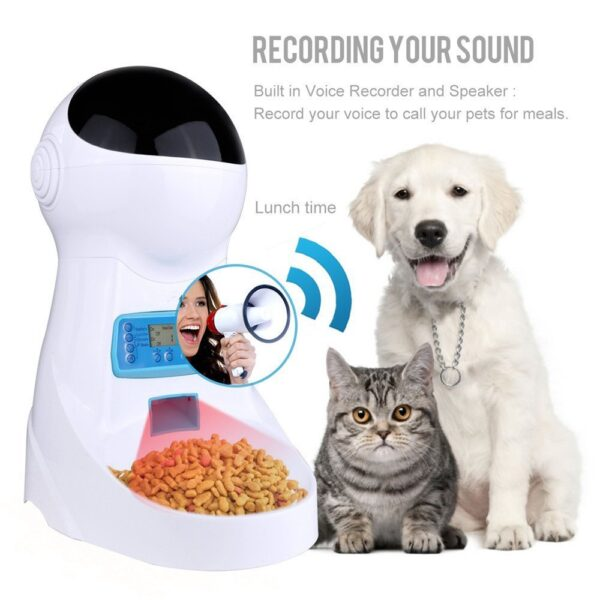 3L Automatic Pet Food Feeder With Voice Recording Pets food Bowl For Medium Small Dog Cat 14