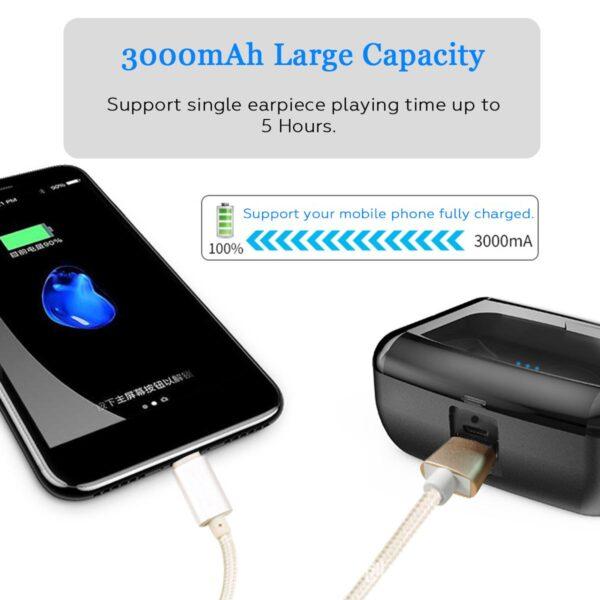 Bluetooth 5 0 Ture Wireless Earphones Mini TWS Earbuds Cordless Twins Stereo IPX8 Sport Swimming Headset 1