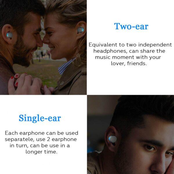 Bluetooth 5 0 Ture Wireless Earphones Mini TWS Earbuds Cordless Twins Stereo IPX8 Sport Swimming Headset 3