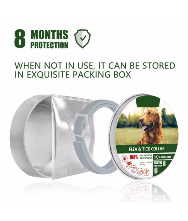 Dewel Dog Collar Anti Flea Mosquitoes Ticks Insect Waterproof Herbal Pet Collar 8 Months Protection Dog 4 1