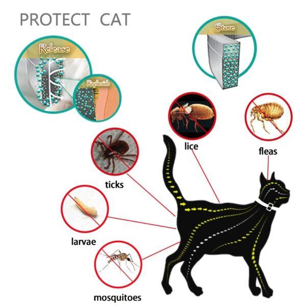 Dewel Summer Anti insect Cat Dog Collar Anti Flea Mosquitoes Ticks Waterproof Cat Flea Collar for 1
