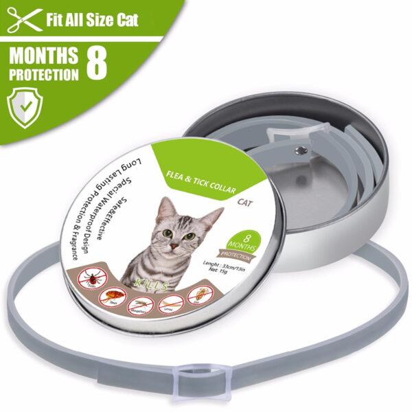 Dewel Summer Anti insect Cat Dog Collar Anti Flea Mosquitoes Ticks Waterproof Cat Flea Collar for 6