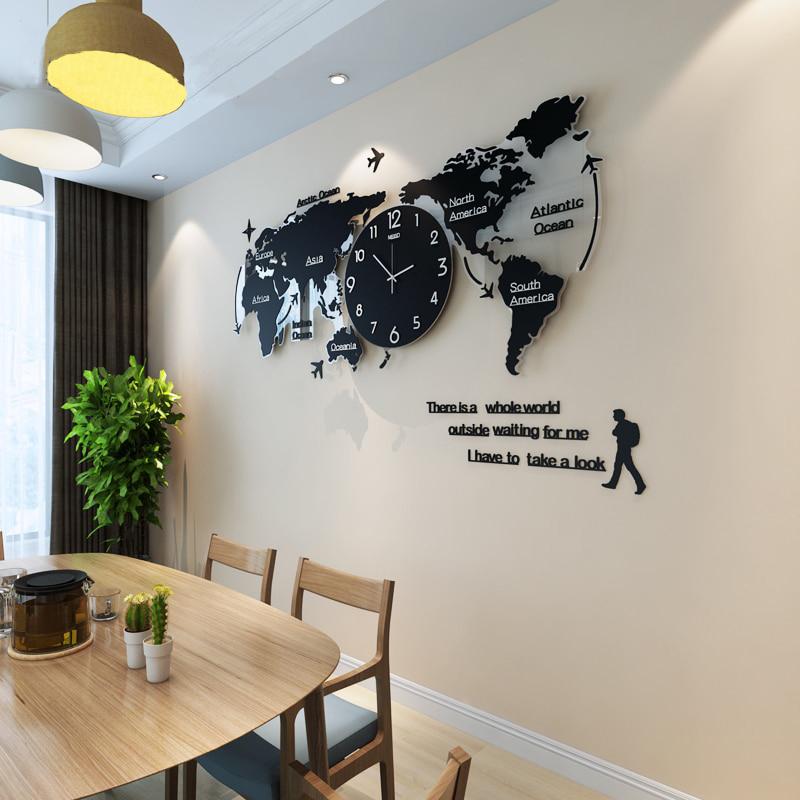 World Map Wall Clock | Modern Design High Quality