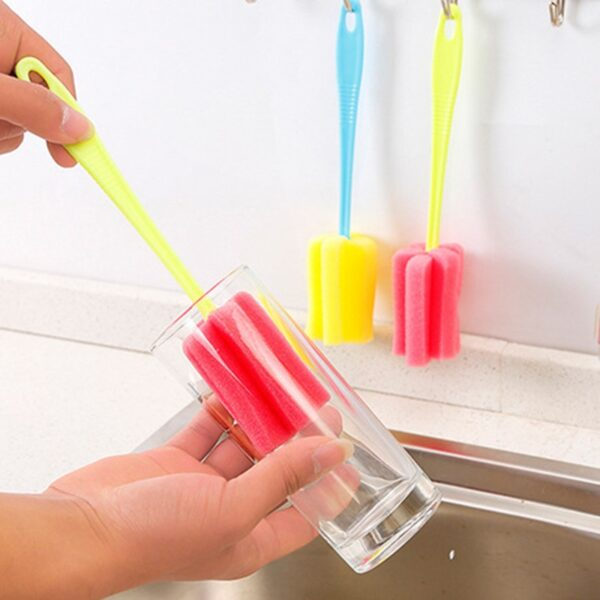 1 PC Kitchen Cleaning Tool Sponge Brush For Wineglass Bottle Coffe Tea Glass Cup 9 11