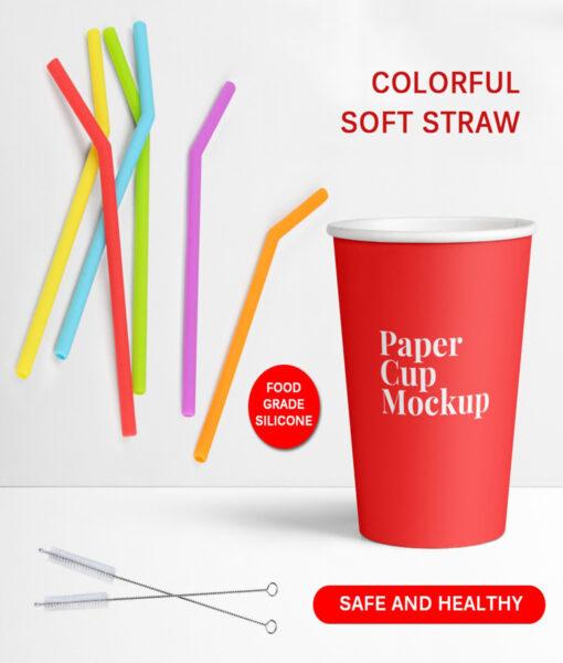 Reusable Straws, 6Pcs Reusable Straws