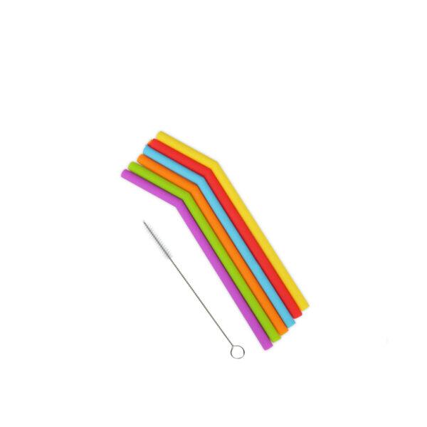 6Pcs Reusable Straws