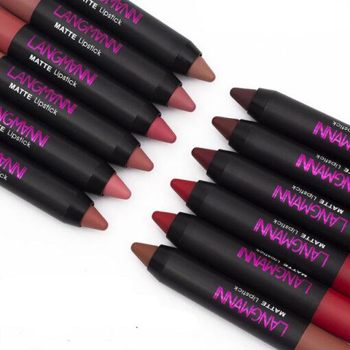 Matte Long Lasting Lipstick, 12PCS/Set Matte Long Lasting Lipstick