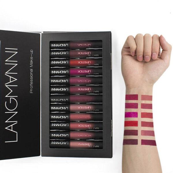 Maquiage brand 12pcs lot lip kit matte Lipstick Waterproof Nutritious Velvet lip stick Red Tint Nude 3 1.jpg 640x640 3 1