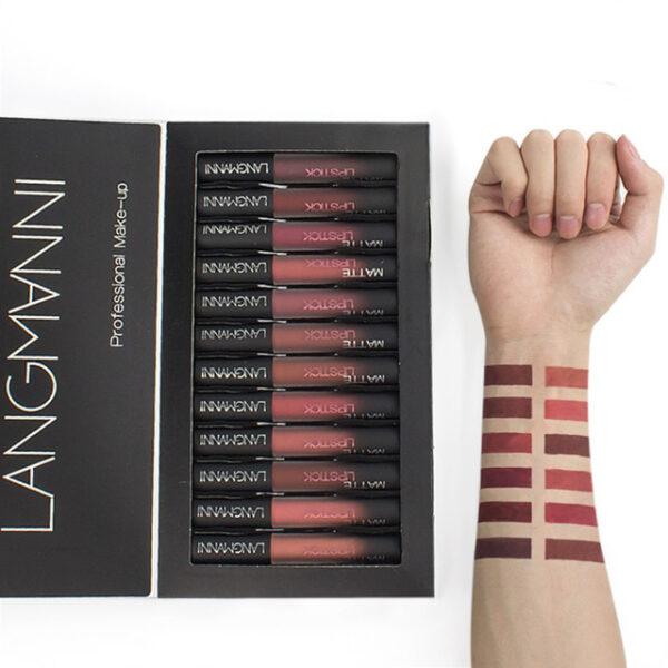 Maquiage brand 12pcs lot lip kit matte Lipstick Waterproof Nutritious Velvet lip stick Red Tint Nude 4 1.jpg 640x640 4 1