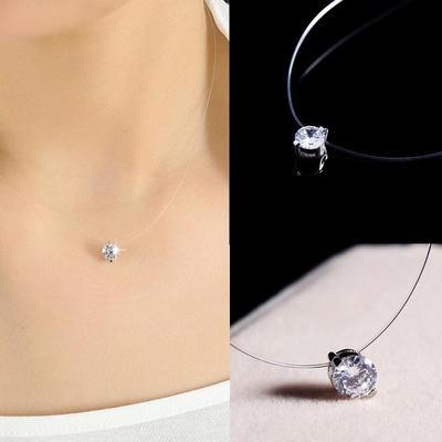 Female Invisible Chain Necklace, Female Invisible Chain Necklace