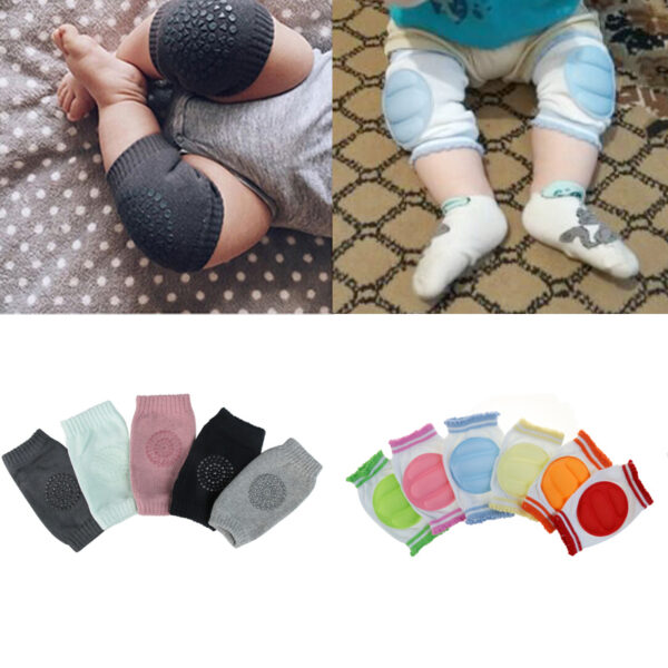1 Pair baby knee pad kids safety crawling elbow cushion infant toddlers baby leg warmer knee 6