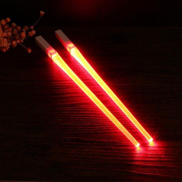 1 Pair of LED Lightsaber Chopsticks Light Up Durable Lightweight Portable BPA Free and Food Safe 1