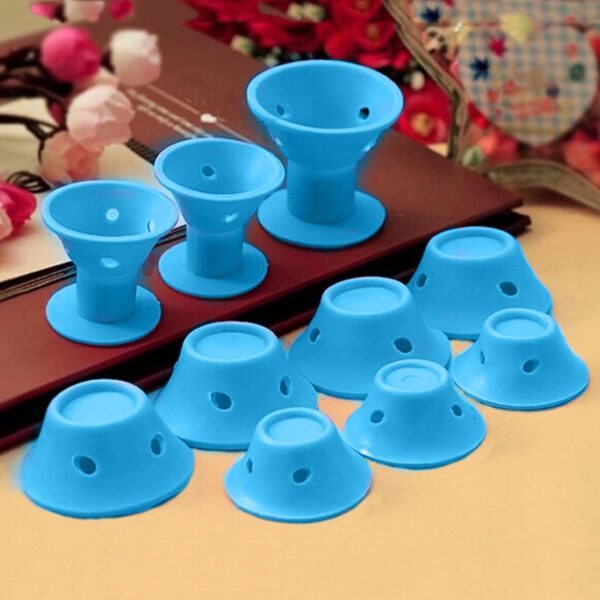 10pcs set Soft Rubber Magic Hair Care Rollers Silicone Hair Curler No Heat Hair Styling Tool 3