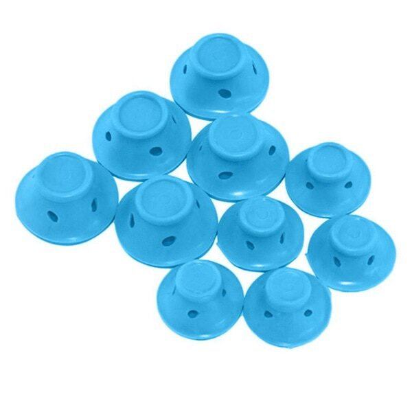 10pcs set Soft Rubber Magic Hair Care Rollers Silicone Hair Curler No Heat Hair Styling
