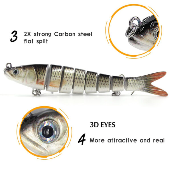 13cm 26g Multi Jointed Fishing Lures Pike Lure Sinking Wobblers Swimbait Hard Lure Fishing Tackle For 2 1