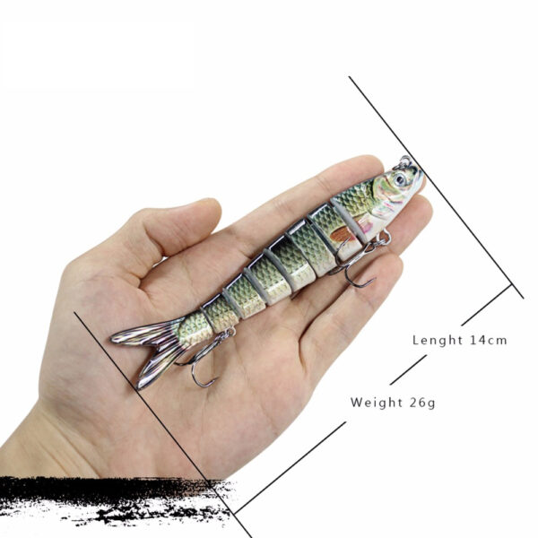 13cm 26g Multi Jointed Fishing Lures Pike Lure Sinking Wobblers Swimbait Hard Lure Fishing Tackle For 3 1