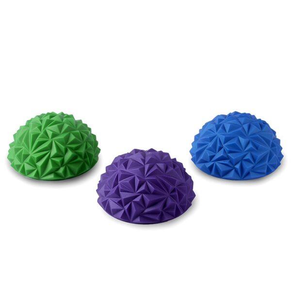 1pcs Children s Sense Training Yoga Half ball Water Cube Diamond Pattern Pineapple Ball Foot Massage