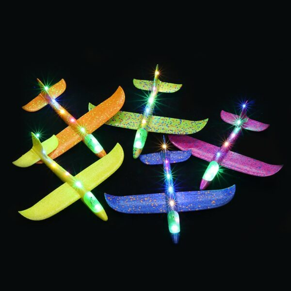 2018 DIY Kids Toys Hand Throw Flying Glider Planes Foam Aeroplane Model Party Bag Fillers Flying 1