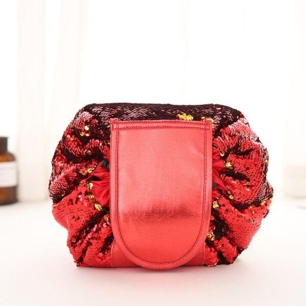 2018 Mermaid Sequins design Cosmetic Bag Drawstring Makeup Case Women Travel Make Up Organizer Storage Pouch 1.jpg 640x640 1