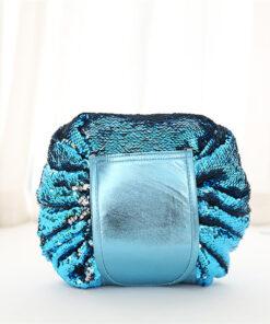 Sequin Drawstring Travel Makeup Bag, Sequin Drawstring Travel Makeup Bag