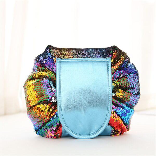 2018 Mermaid Sequins design Cosmetic Bag Drawstring Makeup Case Women Travel Make Up Organizer Storage Pouch 4