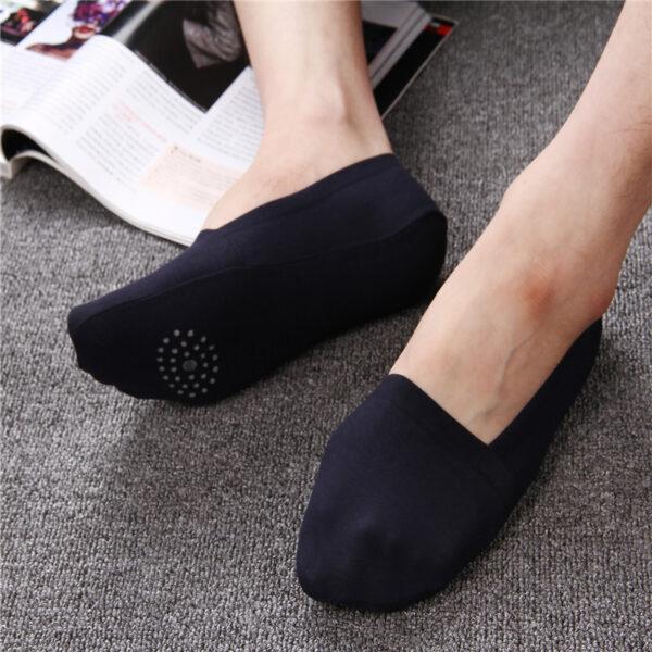 2019 High Quality Bamboo Fiber Cotton Men Socks Invisible Shallow Mouth Silicone Non Slip Short Socks 5