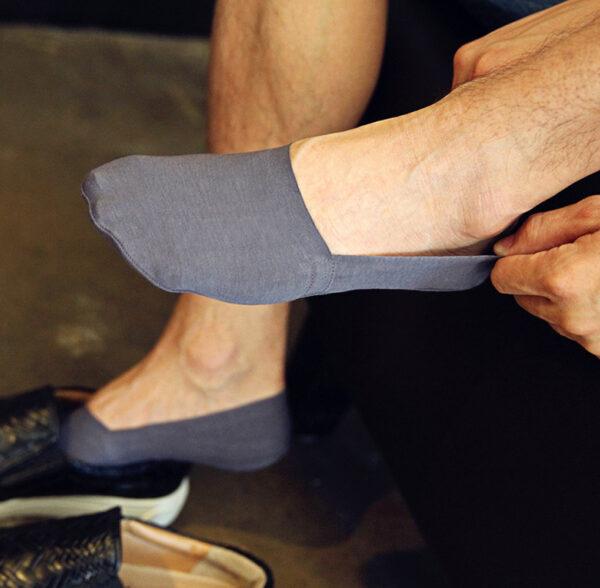 2019 High Quality Bamboo Fiber Cotton Men Socks Invisible Shallow Mouth Silicone Non Slip Short Socks 6