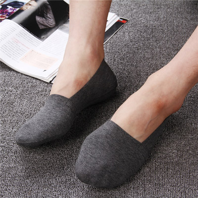 2019 High Quality Bamboo Fiber Cotton Men Socks Invisible Shallow Mouth Silicone Non Slip Short