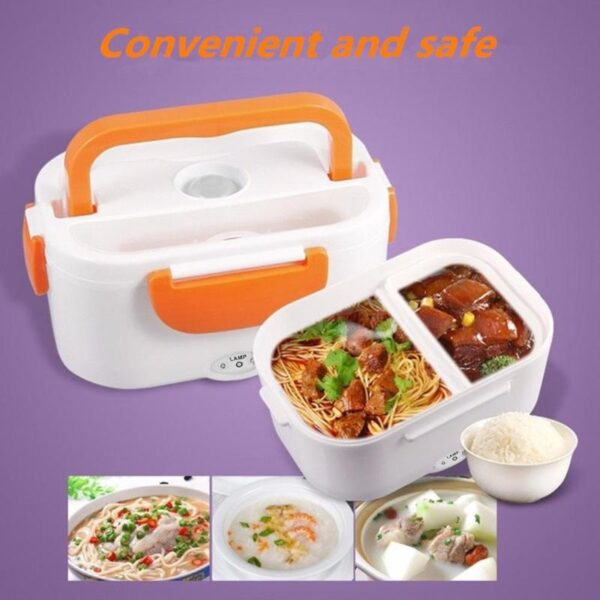 220V 110V Lunch Box Food Container Portable Electric Heating Food Warmer Heater Rice Container Dinnerware Sets 1