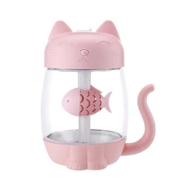 3 in 1 350ML USB Cat Air Humidifier Ultrasonic Cool Mist Adorable Mini Humidifier With LED 3.jpg 640x640 3