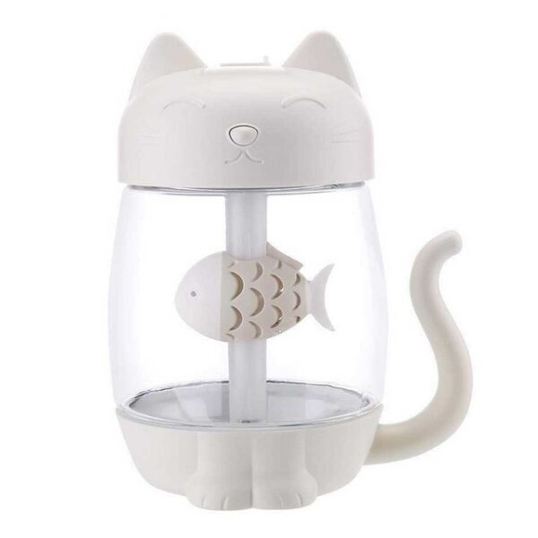 3 in 1 350ML USB Cat Air Humidifier Ultrasonic Cool Mist Adorable Mini Humidifier With