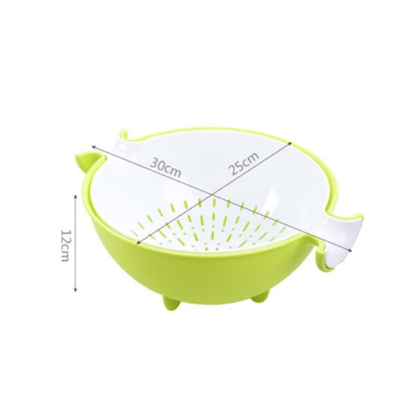 4 Colors Multifunctional Washing Vegetables And Fruit Draining Basket Detachable Double Layer Drain Baskets Storage Salad 5