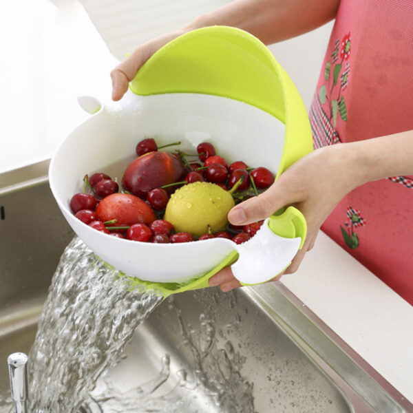 4 Colors Multifunctional Washing Vegetables And Fruit Draining Basket Detachable Double Layer Drain Baskets Storage Salad