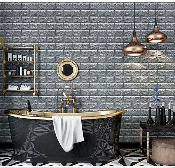 70 77 3D Brick Wall Stickers DIY Self Adhensive Decor Foam Waterproof Wall Covering Wallpaper For 4