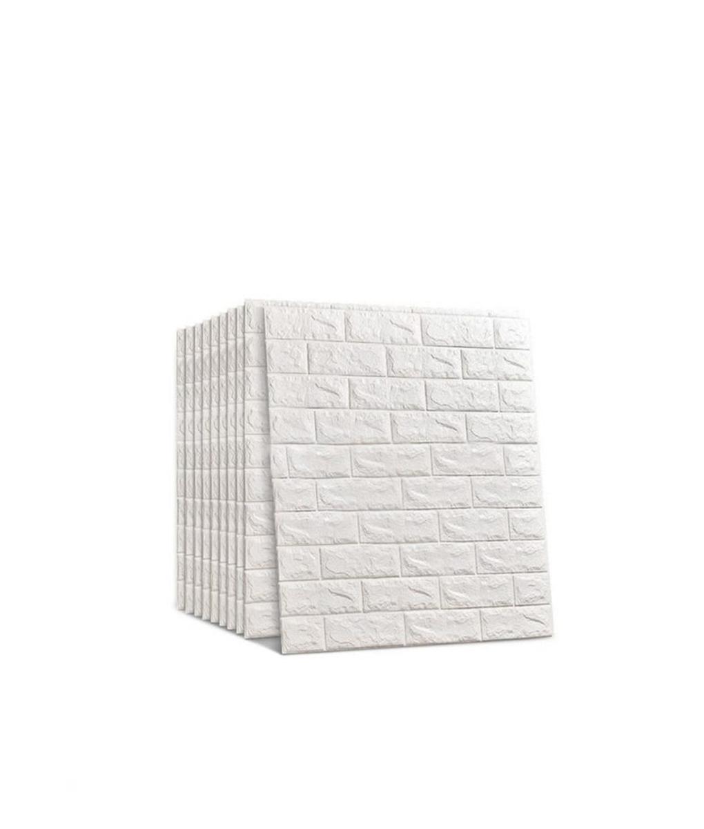 3D Self-Adhesive Faux Foam Bricks Wallpaper
