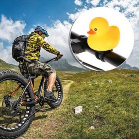 Bicycle Horn Light Small Yellow Duck with Helmet, Bicycle Horn Light Small Yellow Duck with Helmet