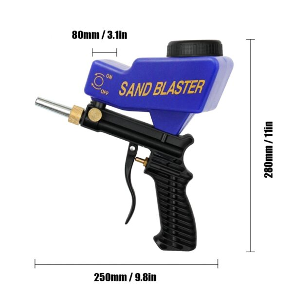 Anti rust Protection sand blaster machine Save unnecessary surface Material Adjust sandblast flows change nozzles Spray 1