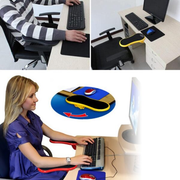 Attachable Armrest Pad Desk Computer Table Arm Support Mouse Pads Arm Wrist Rests Chair Extender Hand 2
