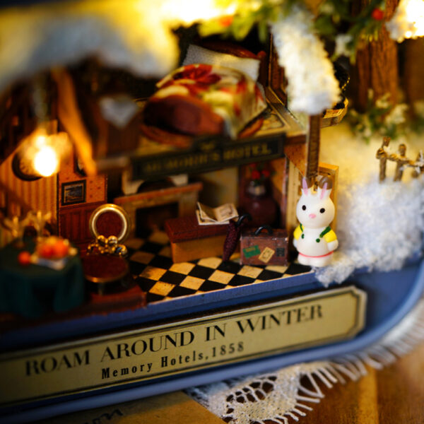Box Theatre Nostalgic Theme Miniature Scene Wooden Miniature Puzzle Toy DIY Doll House Furnitures Countryside Notes 5