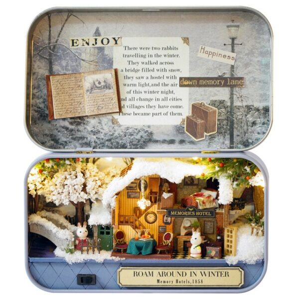Box Theatre Nostalgic Theme Miniature Scene Wooden Miniature Puzzle Toy DIY Doll House Furnitures Countryside Notes 5.jpg 640x640 5