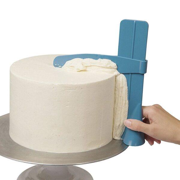 Cake Scraper Smoother Adjustable Fondant Spatulas Cake Edge Smoother Cream Decorating DIY Bakeware Tableware Kitchen Cake