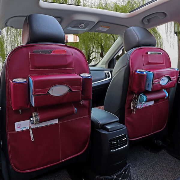 Car Organizer Bag Seat Back Storage Stowing Tidying With Hanging Table Pocket Protector Travel PU Leather 1 1.jpg 640x640 1 1