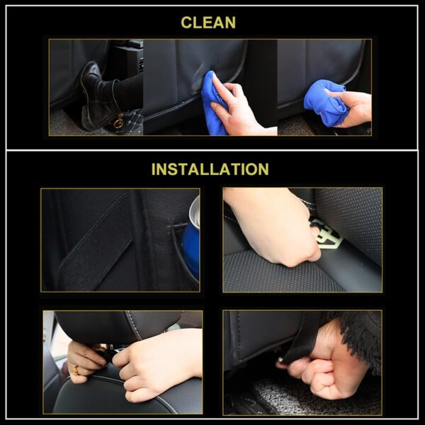 Car Organizer Bag Seat Back Storage Stowing Tidying With Hanging Table Pocket Protector Travel PU Leather 2